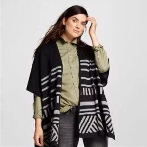 Mossimo Poncho Cardigan Open Front Tribal S/M